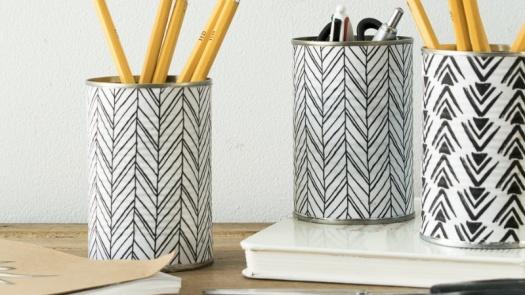 améliorer ton bureau diy pot crayons
